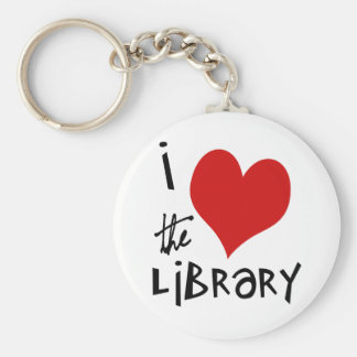 Love the Library Key Chains