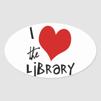 Love the Library Oval Sticker