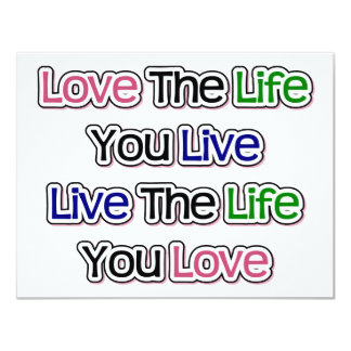 Love the Life You Live Card