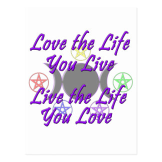 Love the Life You Live Postcard