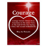 Love The Light Of Courage Quote-Customize Posters