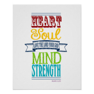 Love the Lord with all your heart Poster