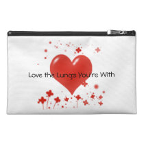 Love the Lungs You're With Medication Carrier Travel Accessory Bag