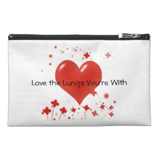 Love the Lungs You're With Medication Carrier Travel Accessory Bags