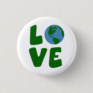 Love the Mother Earth Planet Button