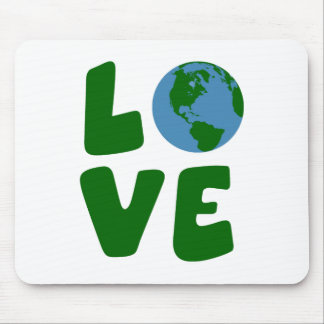 Love the Mother Earth Planet Mouse Pad