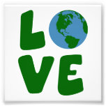 Love the Mother Earth Planet Photo Print