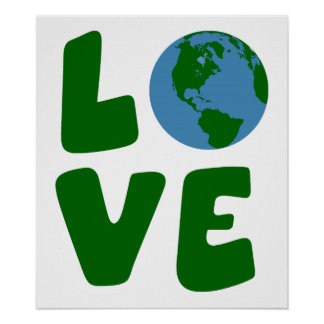 Love the Mother Earth Planet Print