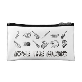 Love the music with these musical instruments cosmetics bags