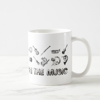 Love the music with these musical instruments coffee mug