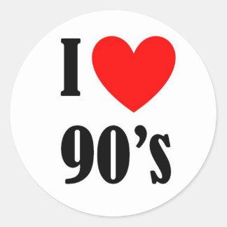 Love the nineties classic round sticker