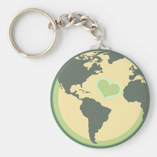 Love the Planet Earth Day Key Chain