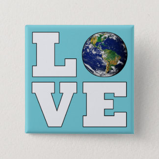 Love the Planet Earth Environmental Protection Button