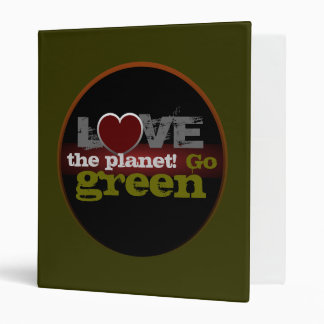 Love the Planet Go Green Binder
