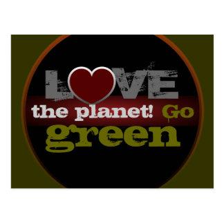 Love the Planet Go Green Postcard