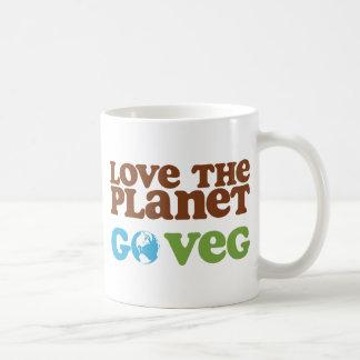Love the Planet Go Veg Coffee Mug