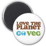 Love the Planet Go Veg Fridge Magnet