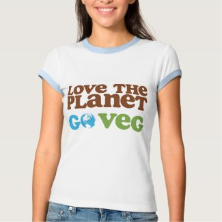 Love the Planet Go Veg shirt