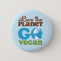 Love the Planet Go Vegan Button