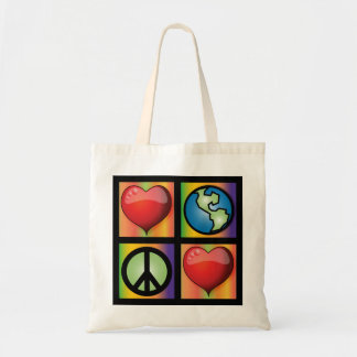 Love The Planet, Love Peace Tote Bag