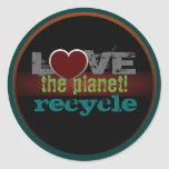 Love the Planet Recycle Sticker