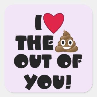 Love The Poop Emoji Square Sticker