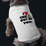 """Love The Poop Emoji T-Shirt<br><div class=""""desc"""">What an adorable doggy shirt for anyone who loves emojis and their dog!  Woof Woof!</div>"""