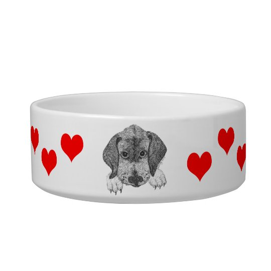Love the Pup Dog Food Bowl