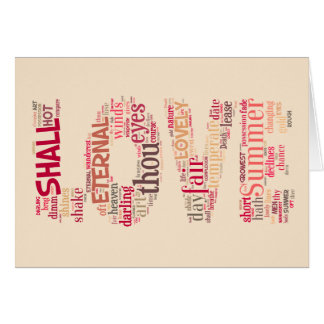 Love the Shakespeare way text art Card