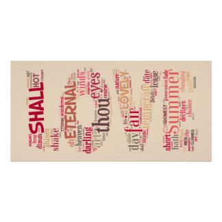 Love the Shakespeare way text art Poster