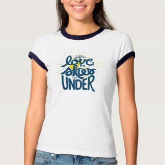 Love the Skies - Fitted Tee with Navy Trim