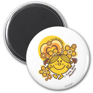 Love The Sunshine   Flowers & Color 2 Inch Round Magnet