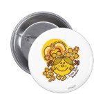 Love The Sunshine   Flowers & Color 2 Inch Round Button