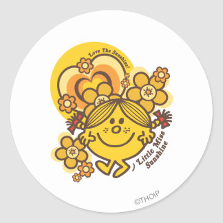 Love The Sunshine | Flowers & Color Classic Round Sticker
