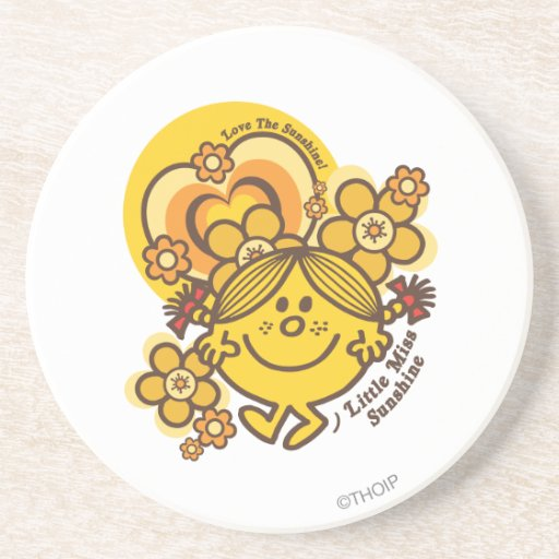Love The Sunshine   Flowers & Color Drink Coasters