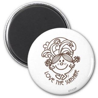 Love The Sunshine   Swirls 2 Inch Round Magnet