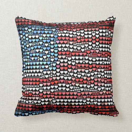 Love the U.S. Throw Pillow