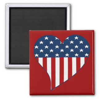 Love the USA 2 Inch Square Magnet