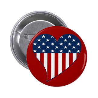 Love the USA Pinback Buttons