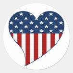 Love the USA Classic Round Sticker