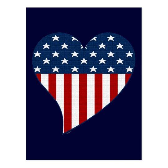 Love the USA Postcard