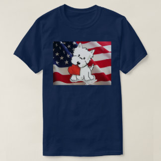 Love the USA Westie T-Shirt