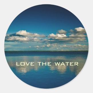 Love the water classic round sticker