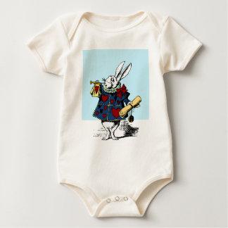 Love the White Rabbit Alice in Wonderland Baby Bodysuit