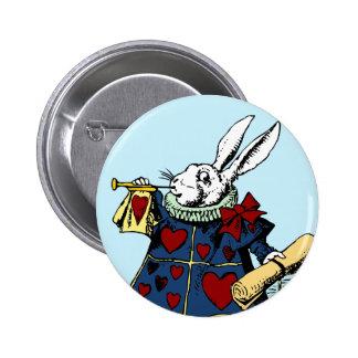 Love the White Rabbit Alice in Wonderland Pinback Buttons