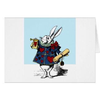 Love the White Rabbit Alice in Wonderland Card