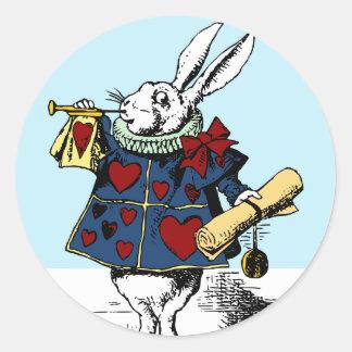 Love the White Rabbit Alice in Wonderland Classic Round Sticker