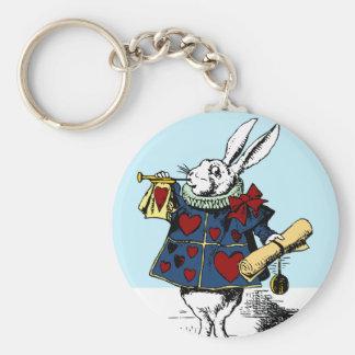 Love the White Rabbit Alice in Wonderland Keychain
