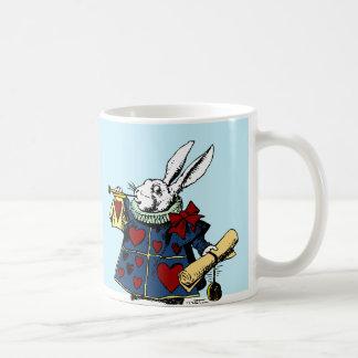 Love the White Rabbit Alice in Wonderland Classic White Coffee Mug