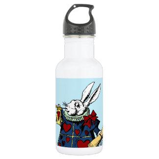 Love the White Rabbit Alice in Wonderland 18oz Water Bottle